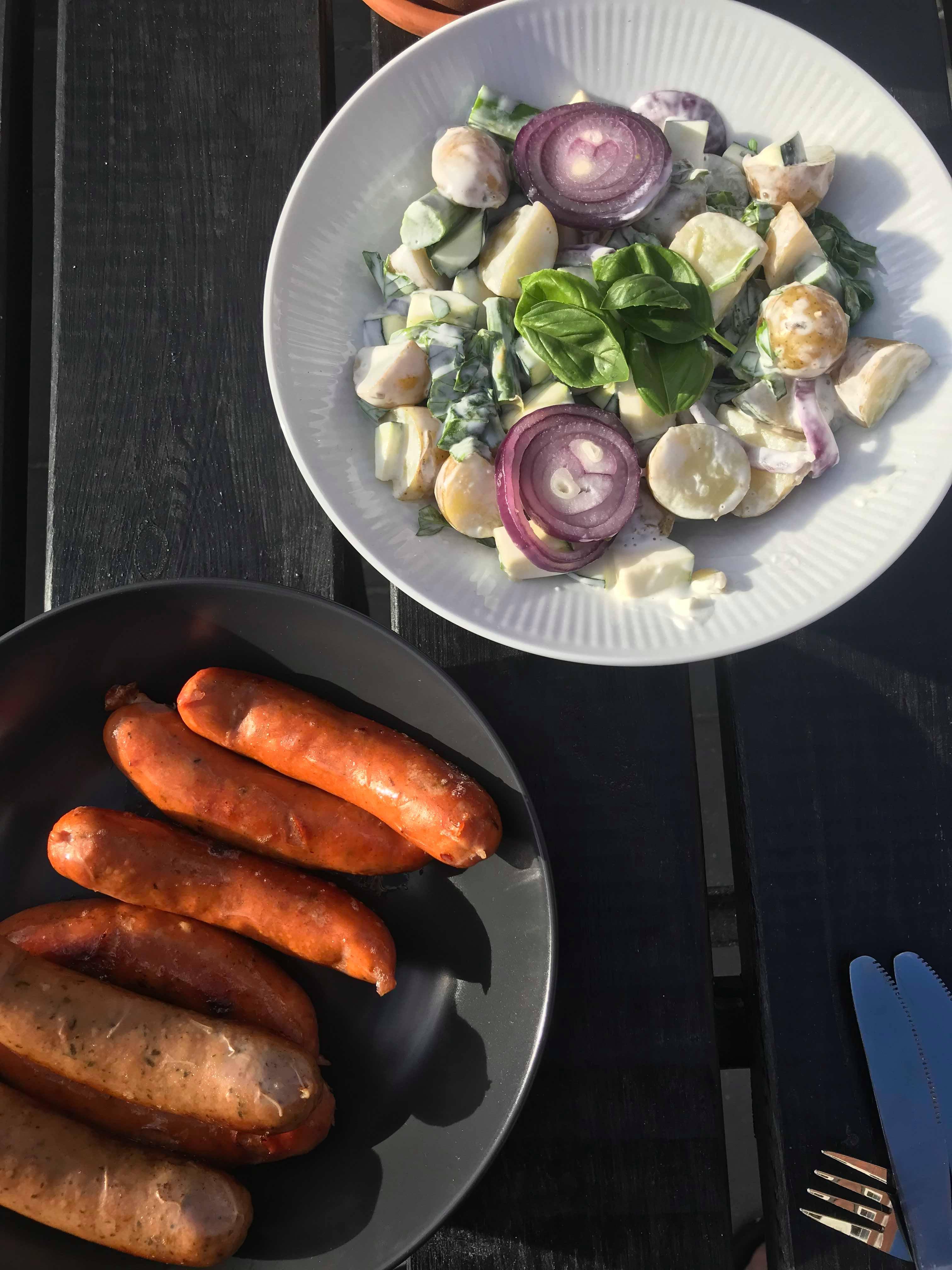 kartoffelsalat med asparges